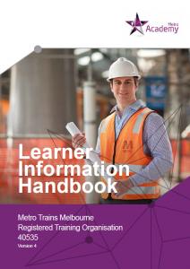 Learner Information Handbook
