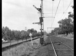 Semaphore signals were a common site on the rail network. Image: Public Record Office Victoria