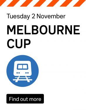Melbourne Cup train information
